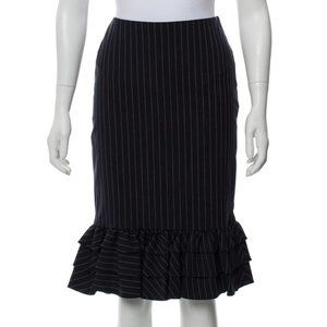 Ralph Lauren Purple Label Pinstripe Skirt